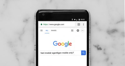 Google på mobiltelefon mobile only