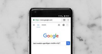 Google på mobiltelefon mobile only